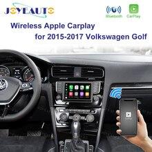 Joyeauto 무선 apple carplay for volkswagen golf 2015 2017 업그레이드 된 android 자동 미러 wifi ios13 자동차 재생 지원 카메라