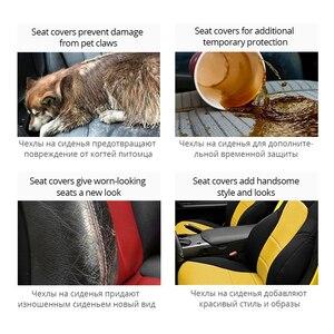 Image 4 - Funda para asiento de coche, Cubiertas de asiento delantero transpirable, decoración de alta calidad, 3 colores, Protector Universal para la mayoría de los vehículos