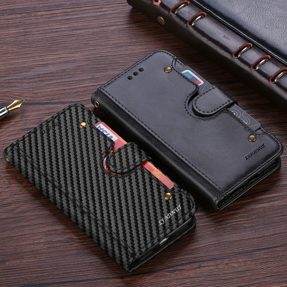 LLZ.COQUE Luxury Wallet Phone Case for IPhone SE 2020 7 Plus 8 6S 6 5 5S Slim Flip Leather Cover for IPhone Xr X Xs Max Coque image