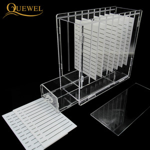Image 3 - Eyelash Glue Glass Holder with Box 8 pieces Eyelashes Stand Extension Pallets  Individual Lashes For Makeup Tool Quewel