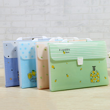 A4 File Bags Folder Multi-layer Accordion Bag Without Side Wrapping Student Office Culture And Education Storage Bag