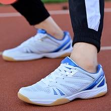 Sneakers Badminton-Shoes Sport Training Women Blue New White Anti-Slippery Air-Mesh Professional