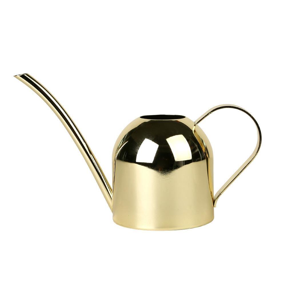 Rega pode cor do ouro pote de aço inoxidável bico longo dentro casa planta pote garrafa dispositivo rega meaty bonsai ferramenta jardim