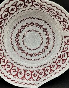 Image 4 - Kippah イスラム祈りの敷物 Topi サウジアラビアアバヤ祈りキャップ赤白の幾何学模様 Seccade Namaz Mütze ダーメンイスラム男性