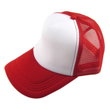 Unisex Casual Hat Solid Baseball Cap Trucker Mesh Blank Viso