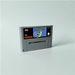 Image 2 - Super Marioed World wszystkie gwiazdy 2D Land Omega powrót do ziemi dinozaurów 3x karta do gry RPG wersja EUR oszczędzanie baterii