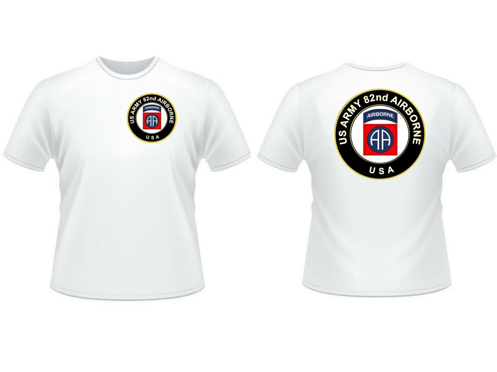 2019 Men Cool Tee Shirt tT-shirt 82 eme airborne US ARMY recto verso TAILLE S M L XL XXL ww2 Summer T-shirt