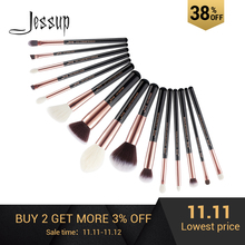 Jessup Makeup-Brushes-Set Foundation-Powder Pincel-Brush Definer Black/rose-Gold