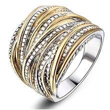 Gümüş 925 takı Anillos De Bizuteria 100% gerçek 14 K çok altın yüzük kadınlar için düğün taş Anillos Mujer yüzük mücevher kutusu