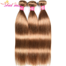 FEEL ME Peruvian Straight Hair Bundles Pre-Colored Human Hai