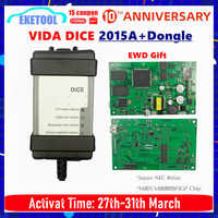 New 2015A+Dongle 1999-2019 For VOLVO VIDA DICE 2014D Full Chip Multi-Language Green PCB Origianal Chips EWD Gift