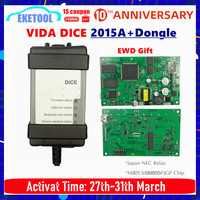 New 2015A+Dongle 1999 2019 For VOLVO VIDA DICE 2014D Full Chip Multi Language Green PCB Origianal Chips EWD Gift
