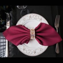 10 개/몫 48cm 스퀘어 폴리 에스터 손수건 헝겊 화이트 테이블 저녁 식사 냅킨 식당 파티 크리스마스 공급 결혼식 호의