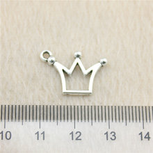 Sales Retail 1 Piece 19x13mm Small Crown Charms Diy Charms Religious Jewelry(China)
