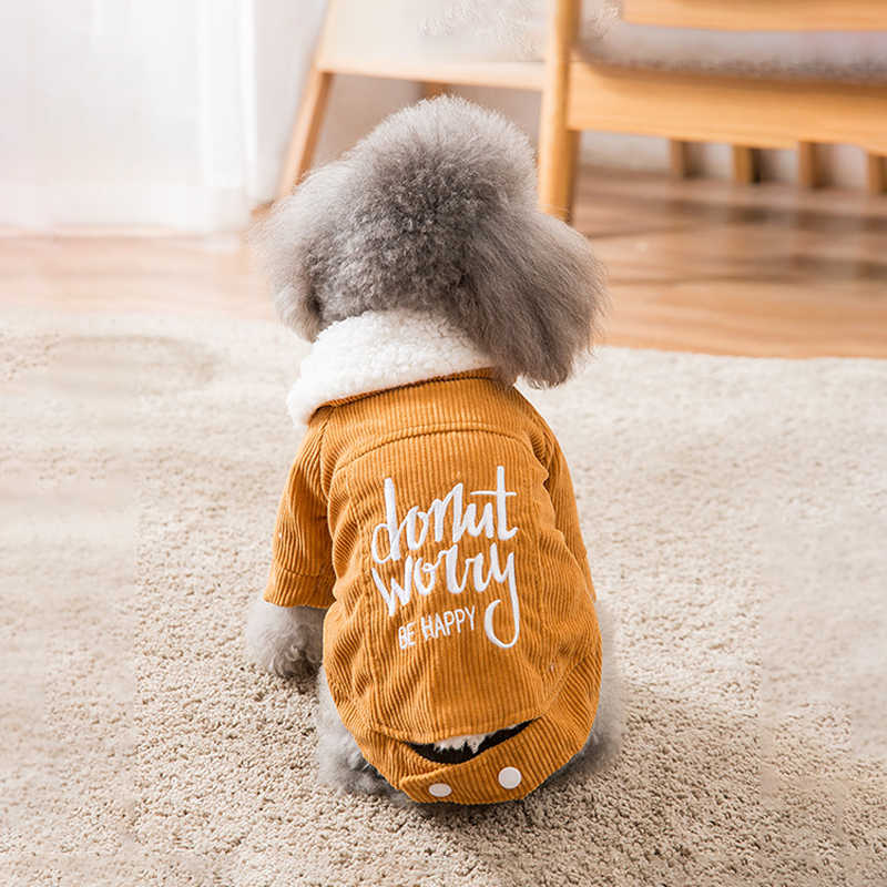 Embroidered Dog Coat Small Dog or Cat Coat Brown Cat Coat Brown Dog Coat Pet Coats