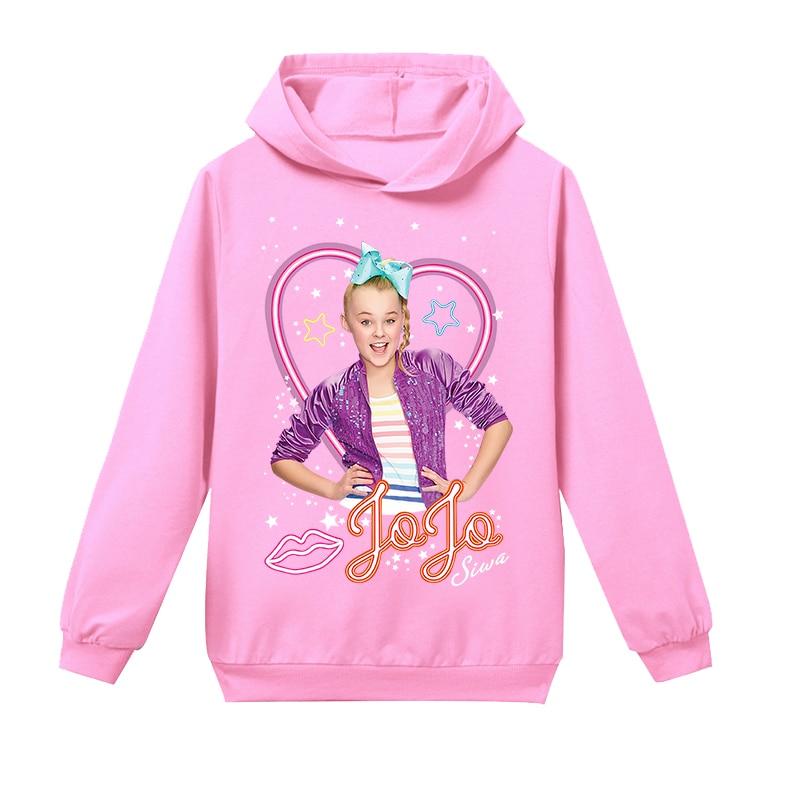 2PCS JOJO Siwa Cartoon Girls Jacket Kid Zip-up Sweatshirt Hoodie Wear Coat Pants