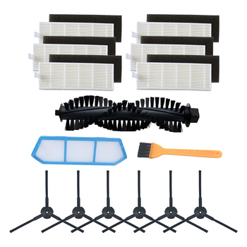 for ILIFE A40 accessories chuwi ilife A4s A40 Robot Vacuum Cleaner Parts Kits  dust HEPA Filter Main Brush Side Brushes for ilife a40 accessories chuwi ilife a4s a40 robot vacuum cleaner parts kits replacement dust hepa filter main brush side brush