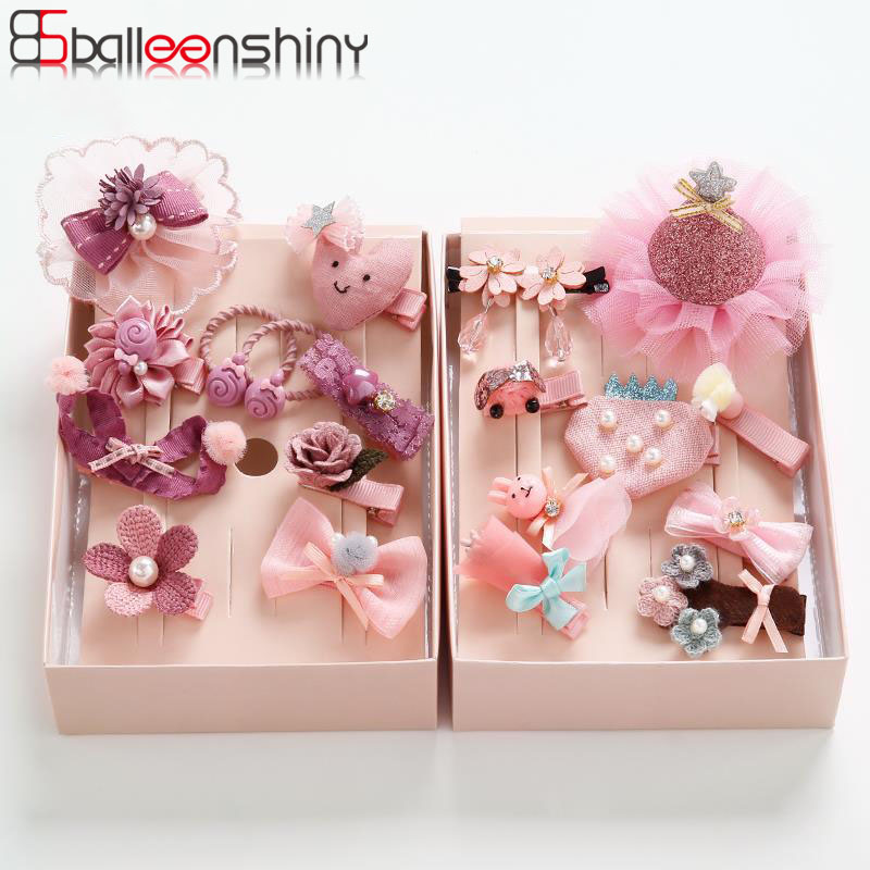 Balleenshiny 10pcs Baby Girls Hair Pin Lovely Bowknot Flower Princess Hairclips Christmas Gift For Kids Girl Baby Accessories