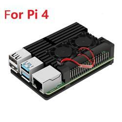 Защитный чехол для Raspberry Pi корпус крышка с алюминиевым радиатором вентилятор охлаждения для Raspberry PI 3 Model B + плюс, Pi 3/2