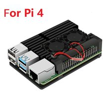 Raspberry Pi 4 Case Enclosure CNC Aluminum Cover Heatsink Cooling Fan for Raspberry Pi 4 Model B 3B 3B+(China)