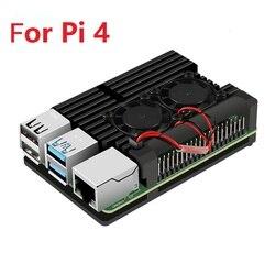 Raspberry pi 4 4b caso gabinete cnc alumínio capa dissipador de calor ventilador de refrigeração para raspberry pi 4 modelo b