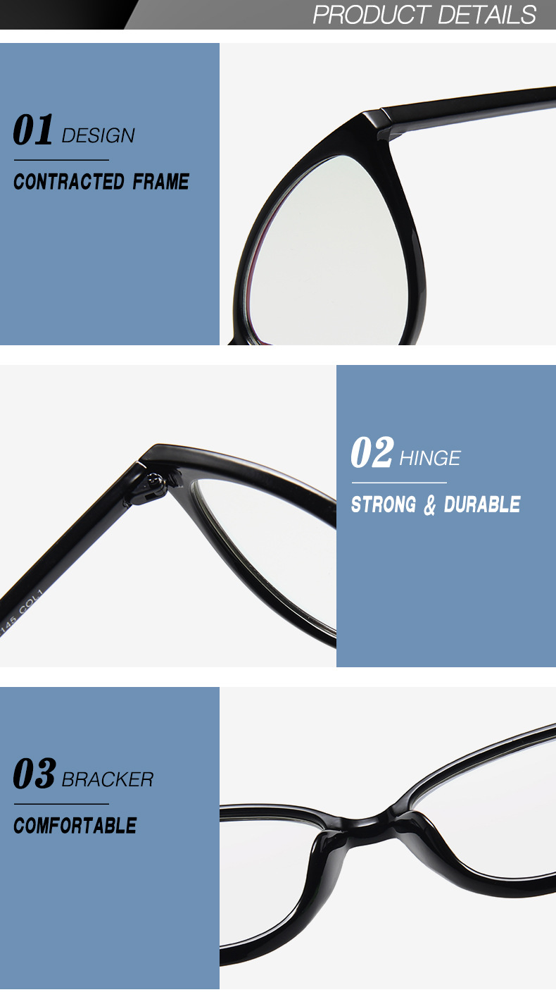New Retro Cat Eye Women Glasses Frame Anti Blue Light Lady Eyeglasses Frame myopia Vintage Clear Glasses Optical Spectacle Frame (15)