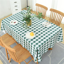 Countryside Wind Small Lattice Waterproof Defence Oil Series Tablecloth Household Bar Restaurant Use Table Cloth