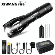 Ultra Bright Led Flashlight T6/L2/V6 Camping Outdoor Torch 5 Lighting Modes Waterproof Zoomable Bicycle Light Use 18650 Battery