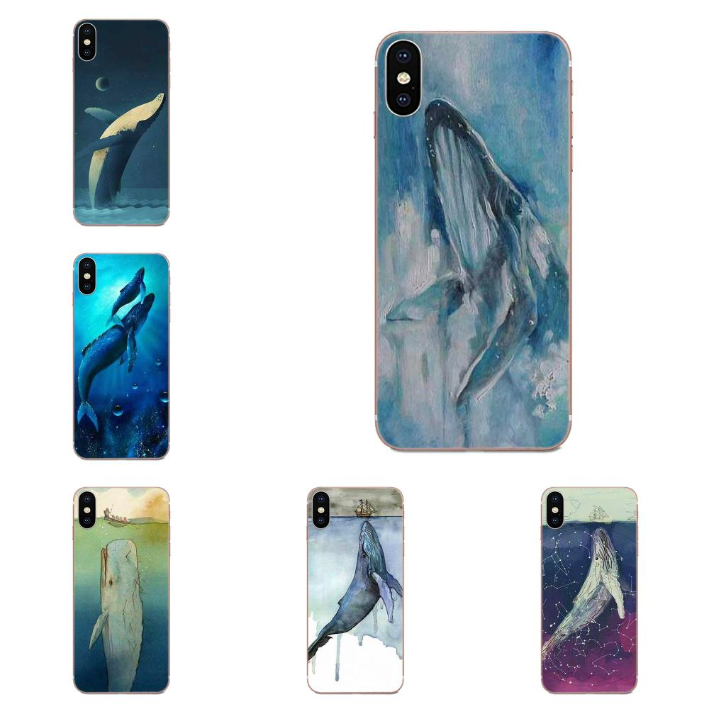 For Samsung Galaxy Note 5 8 9 S3 S4 S5 S6 S7 S8 S9 S10 5G mini Edge Plus Lite Soft Original Watercolor Whale image