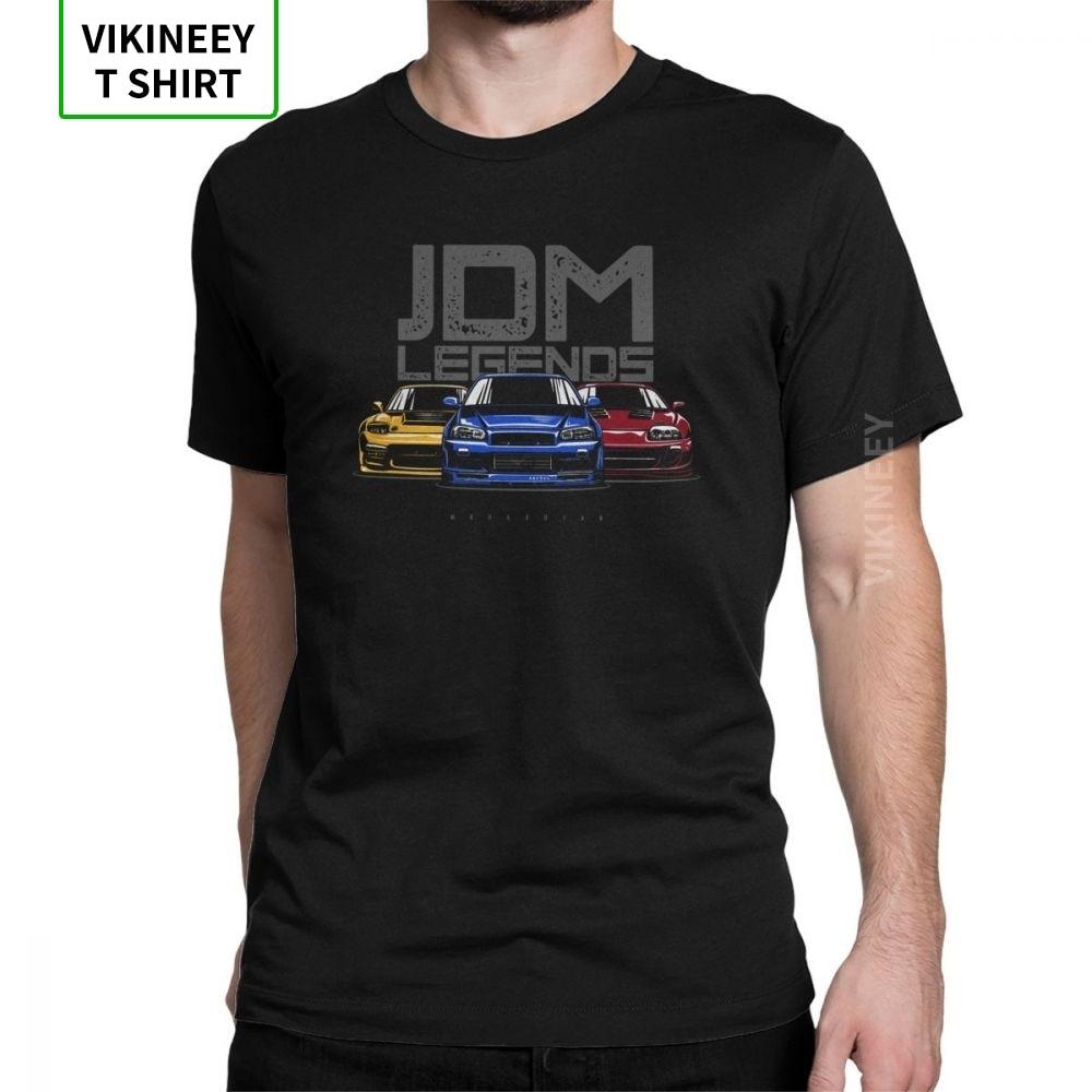 Man's T Shirt JDM T-Shirt Legend Japanese Car Sportcar Automotive Fashion Short Sleeve Tees Crewneck Clothing Cotton Latest