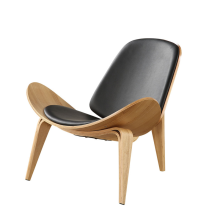 Fashion Chair Curved Wood Lounge Chair Modern Negotiation Cafe Sales Department Solid Wood Aircraft Chair