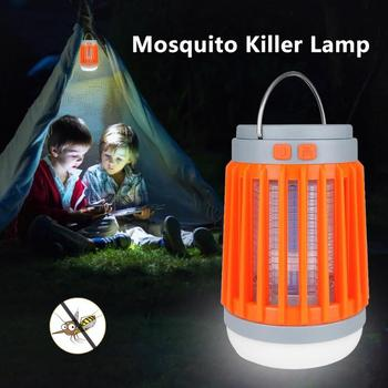 Solar Mosquito Killer Lamp Waterproof Insect Fly Bug Trap Light Flashlight Mosquito Zapper Light For Bedroom, Garden,Camping 1