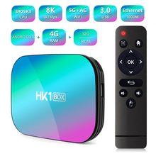 Hk1box 4gb 32 8k amlogic s905x3 smart tv box android 9.0 duplo wifi 1080p 4k youtube definir caixa superior pk x96air x3 a95xf3