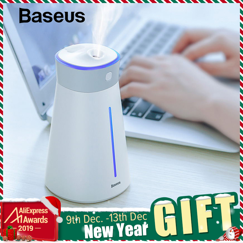 Baseus Humidifier Air Diffuser Difusor Humidificador For Home Office Car Aroma Diffuser Air Humidifier With Colorful Light Fan