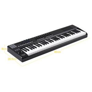 Image 4 - WORLDE PANDA61 taşınabilir _ _ _ _ _ _ _ _ _ _ _ _ _ _ _ _ _ _ _ _ Key USB MIDI klavye denetleyici 8 RGB renkli arkadan aydınlatmalı tetik pedleri piyano midi denetleyici