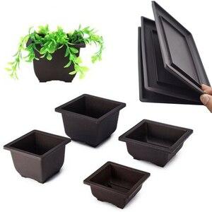 Image 2 - Planter bonsai Flower branch Pot Imitation Plastic Balcony Rectangle Bonsai Bowl pots Basin Nursery plastic Gardon Supply