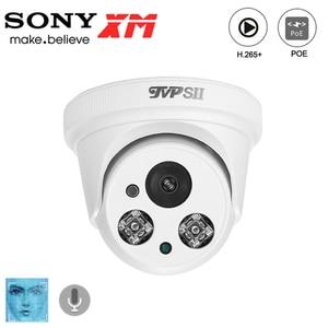Image 1 - Deux led infrarouges en plastique 8mp 4K,5mp,3mp,2mp H.265 + caméra de vidéosurveillance IP POE de dôme de sécurité de détection de visage donvif Audio dintérieur