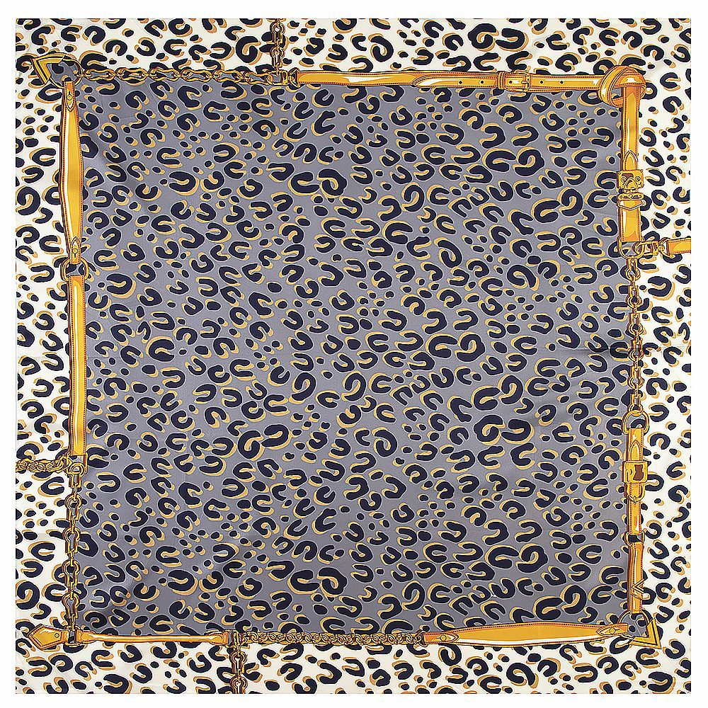Classic Leopard Print Luxury Brand Scarf 2019 New Winter Scarf Twill Silk Square Scarf Women Kerchief Shawl Scarves For Ladies