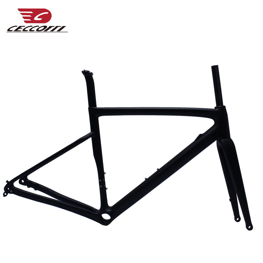 Carbon Road Frame Disc Brake Thru Axle Direct Mount Carbon Bicycle Frame DI2 And Mechanical