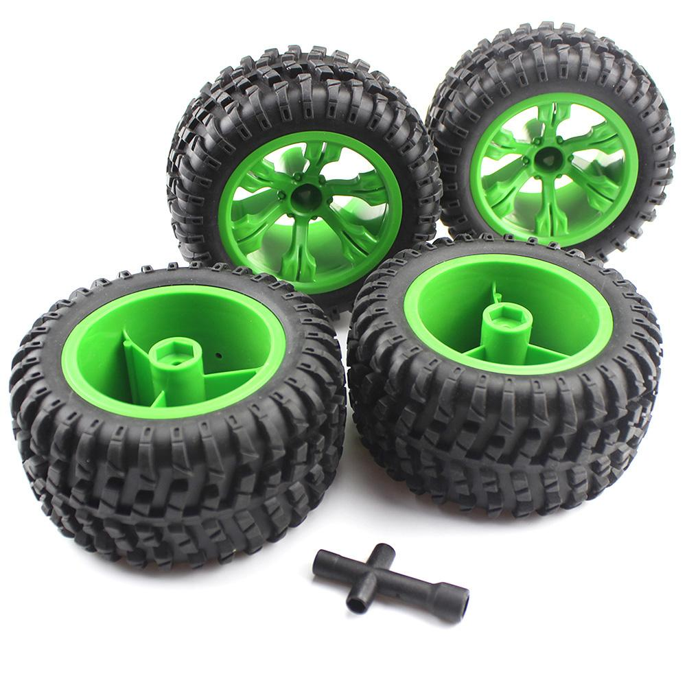 4Pcs Rubber Hub Wheel Rim Tires Tyre Upgraded Parts For WLtoys RC Car Accessory 12428 Kids Educational Toys For Children Gift