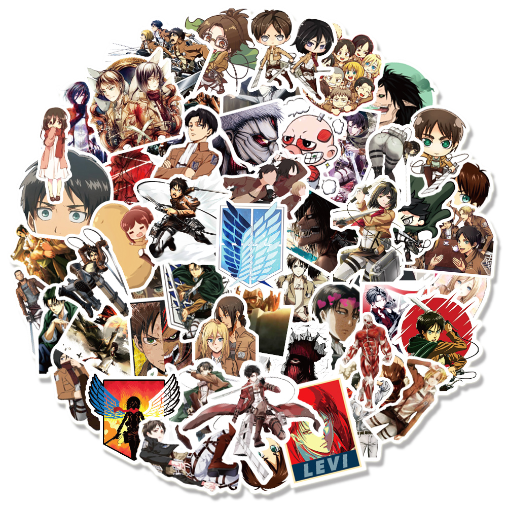 10/30/50/100PCS/Pack Anime Attack on Titan Graffiti Stickers for Laptop Motorcycle Skateboard Computer Luggage Decal Sticker Toy