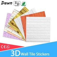 3D Wall Stickers Marble Brick Waterproof DIY Self-Adhesive Decor Background For Kids Room Living Room Wallpaper Sticker(China)