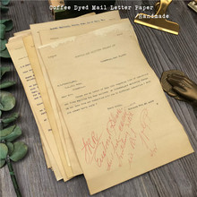 Handmade Coffee Dyeing Paper Material Background Journal Decoration Mail Letter Old Papers DIY Scrapbooking Craft Paper