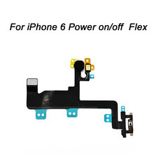 NEW Power Mute Volume Flex Cable For iphone 4 4S 5 5S 5C SE 6 6S 6S Button Switch On/Off Flex Replacement Part(China)