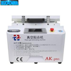 New Hot Plate type laminating machine OCA laminating machine AK-pro the upper and lower plate heating Vacuum laminating machine(China)