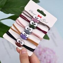 Nylon Rubber Band Cute Frog Alloy Paint Elastic Hair Bands For Womens Cartoon Handmade Accessories Headwear scrunch