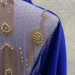 Image 4 - Afrika giyim 2020 yeni pelerin ceket Riche Bazin afrika elbise kadınlar seksi Sequins perspektif hırka pelerin ceket