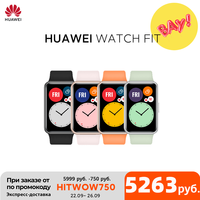 Global Version HUAWEI Watch FIT SmartWatch Quick-Workout Animations Blood Oxygen Watch FIT 10 Days Battery Life 1