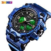 SKMEI Homens Esporte Relógios Cronógrafo Digital de Tempo Duplo Relógio De Alarme 50 M 1155B Watwrproof EL Luz Relógios de Pulso Relogio masculino