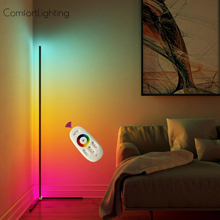 Moderne LED Boden Lampe Ecke LED Boden Licht Coloful Schlafzimmer Lampe Atmosphäre Beleuchtung Club Home Home Decor Ecke Stehend Lampe